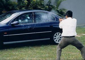 Existem três níveis de blindagens, que oferecem proteção para diferentes calibres.