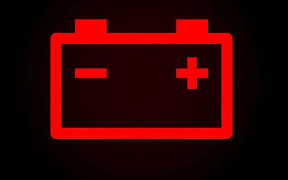 Luz da bateria acesa
